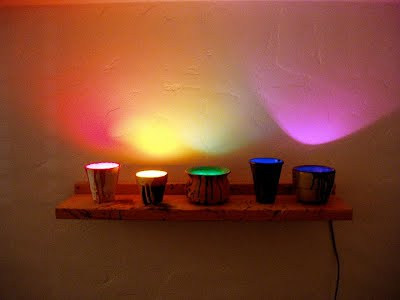 Light Pots - inspired by Antonio Peticov's neon works